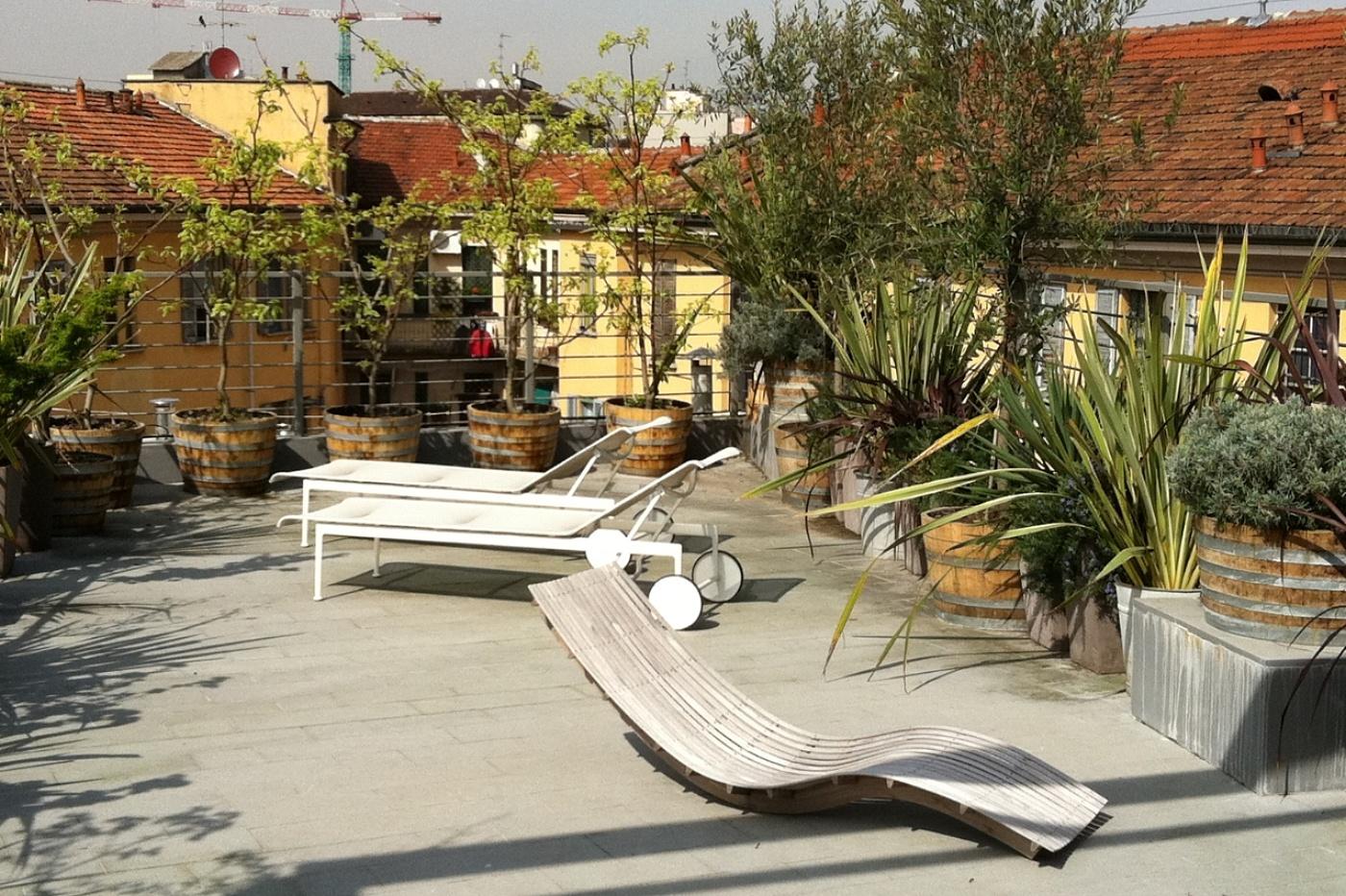 Giardini Pagani - progettazione e realizzazione terrazzo in milano ...
