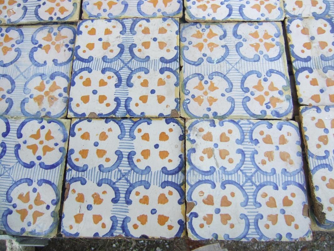 Recuperando brick and stone maioliche fatte a mano antiche