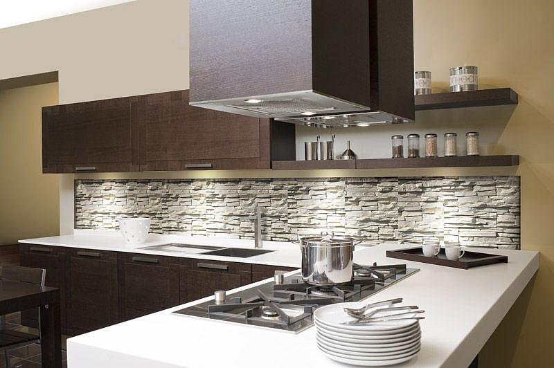 Fratelli bianchi pavimenti pietra ricostruita - Rivestimento cucina effetto pietra ...