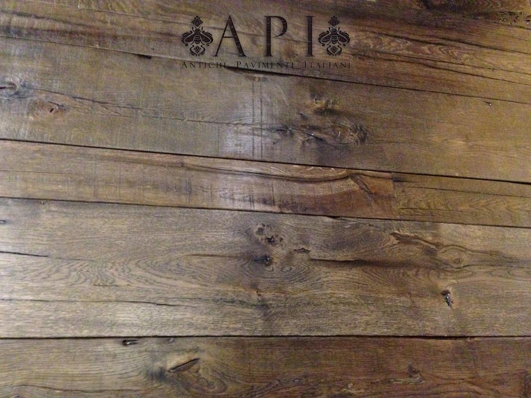 A P I - Antichi Pavimenti Italiani - Pavimento a listoni in legno antico di r...