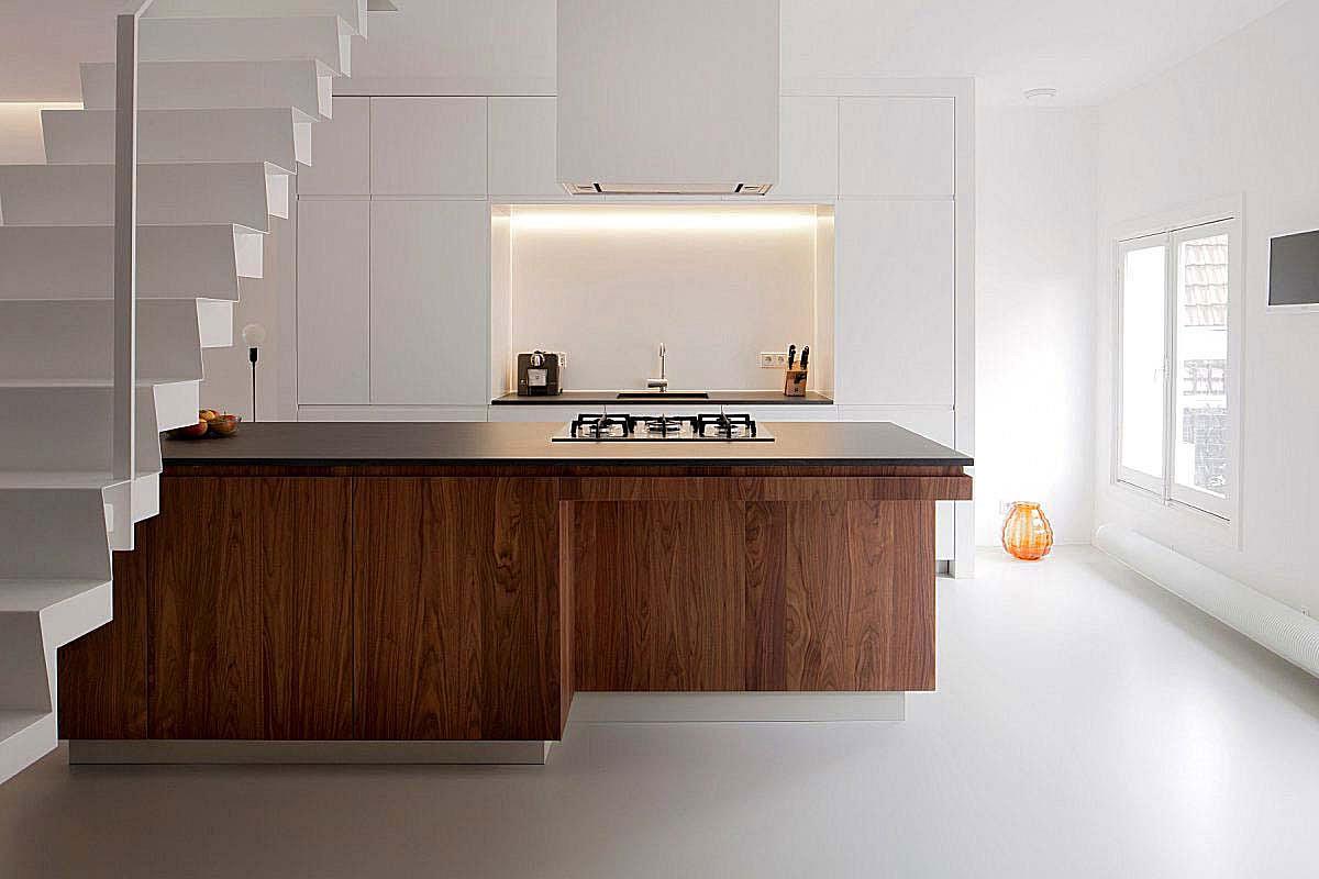 Pavimento moderno pavimenti in resina interni infinity - Pavimento per cucina ...
