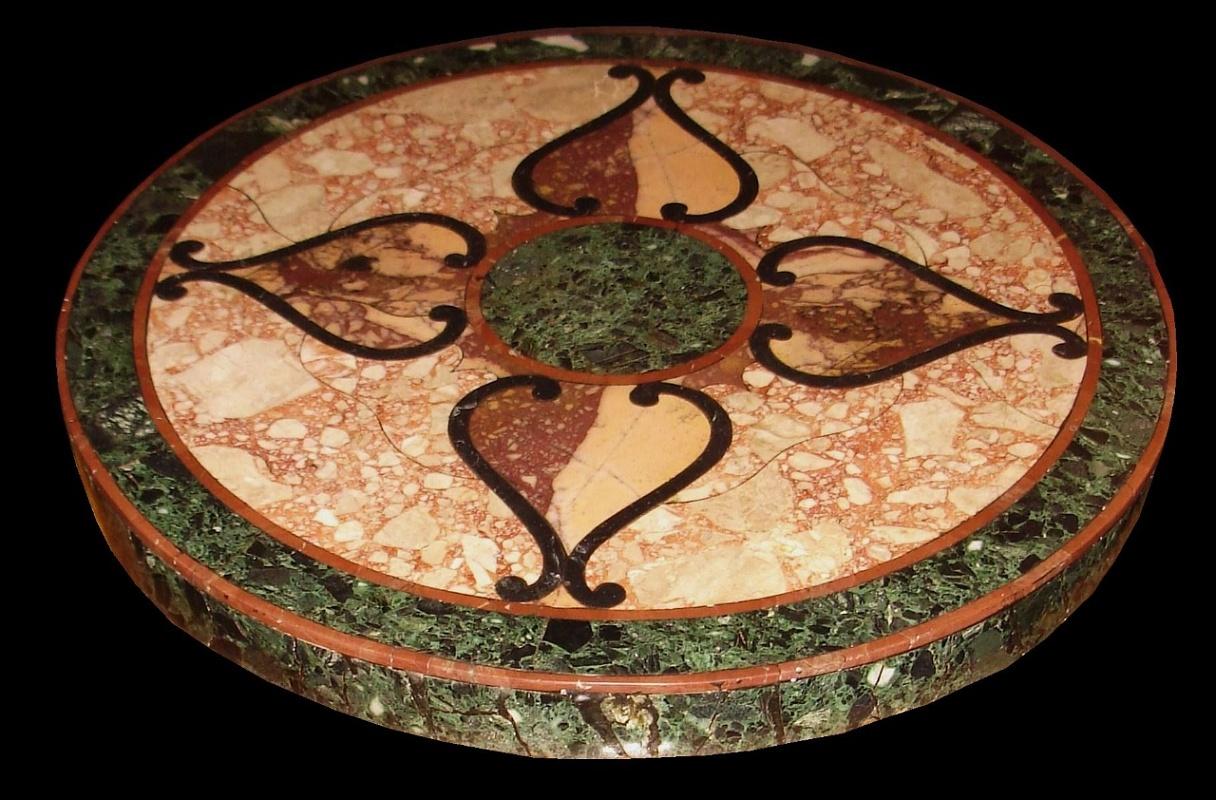 Tavoli Di Marmo Intarsiati : La bottega delle arti antiche superfici e tavoli intarsiati
