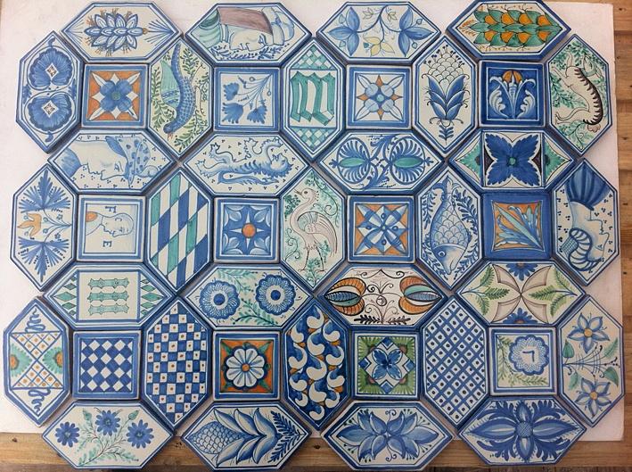 L 39 antica ceramica vietrese artigianale prodotti e info - Piastrelle decorate a mano ...