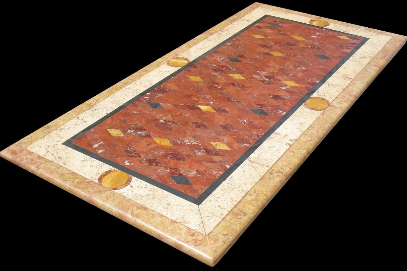La Bottega delle Arti Antiche - Tavolo da giardino in marmi policromi ...