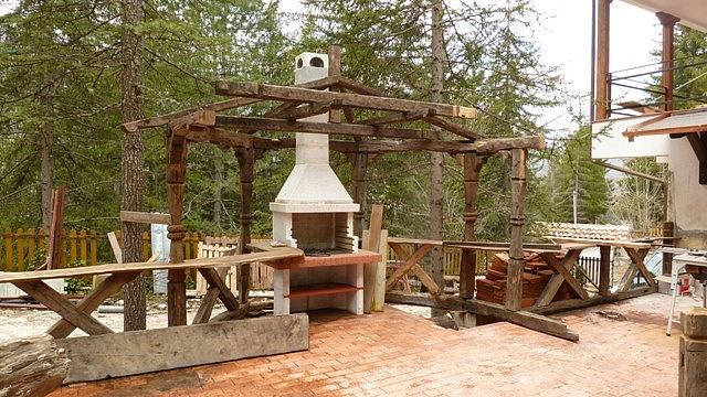 Legno antico pergolati tettoie for Progetto gazebo in legno pdf