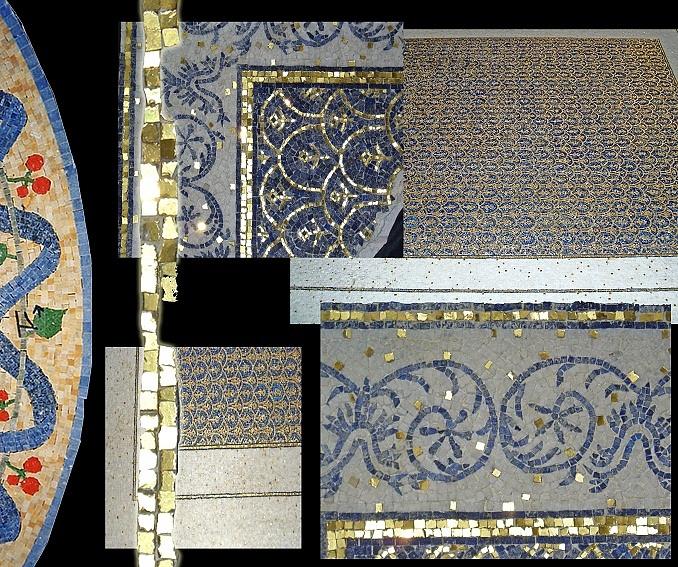 Sols interni di prestigio mosaici in marmo for Pavimenti mosaici per interni