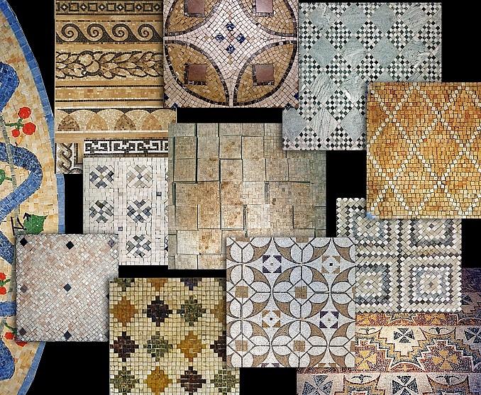 Sols interni di prestigio mosaici in marmo - Tipi di tappeti ...