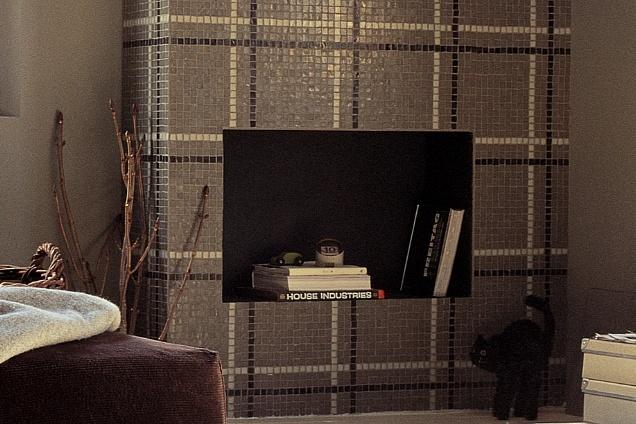 Mosaici marrone for Vetro casa dolce casa
