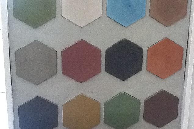 Cementine esagonali in cucina foto design mag
