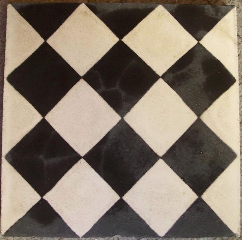 bagno Cementine disegno : SOLS - Interni di Prestigio - Cementina quadrata bianca e nera ...