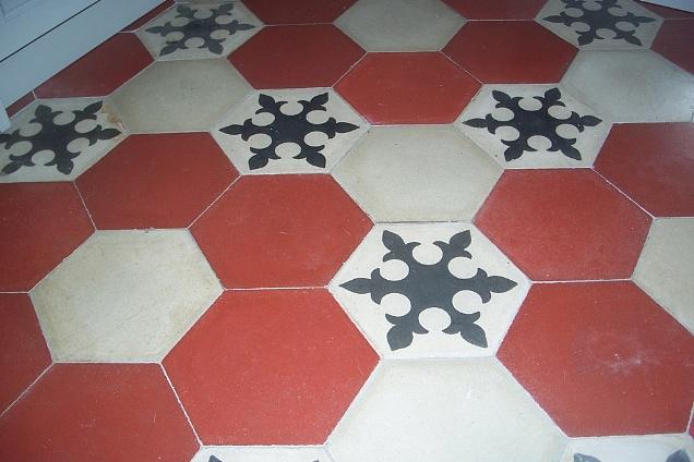 Pavimenti in graniglia cementine seminato veneziano esagonale