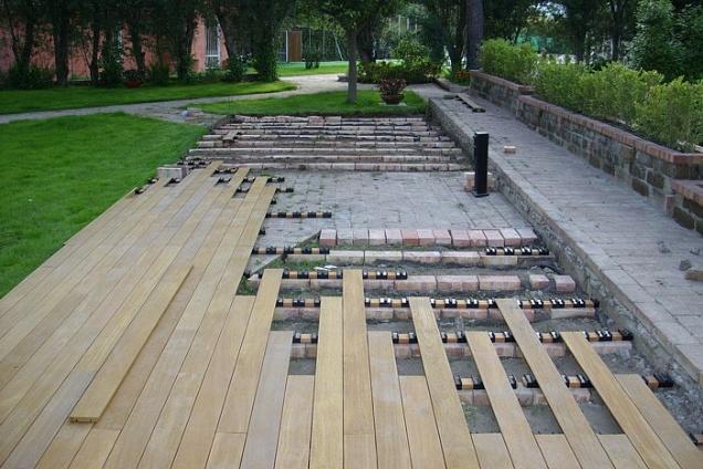 Pavimenti per esterni pavimenti speciali - Pedana da giardino ...