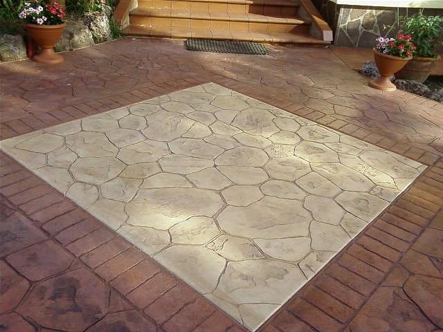 Mak stone superfici innovative pavimento stampato in cls - Pavimenti stampati per esterni ...