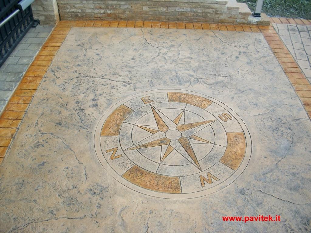 Calcestruzzo Stampato Prezzi Mq : Esterna cemento stampato amazing per esterni in cemento stampato