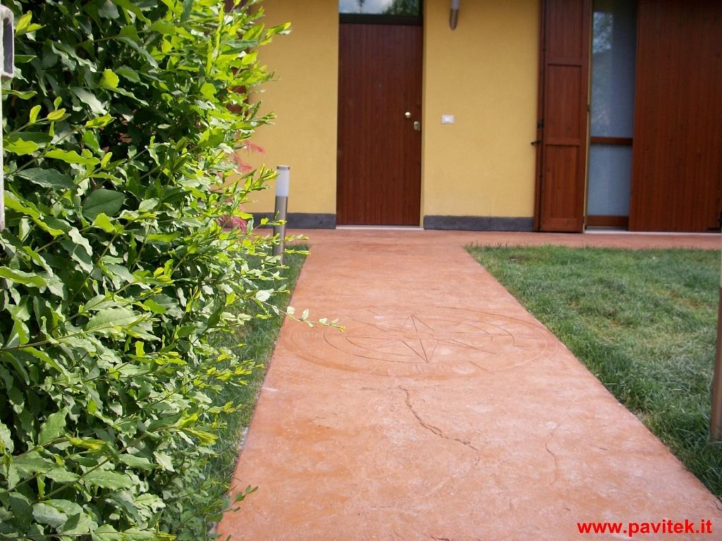 Pavitek sas di arena enzo c cemento stampato for Esterno quarzo