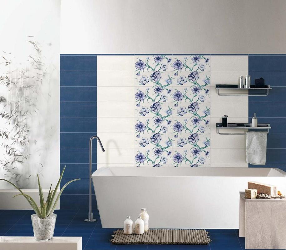 Ceramiche supergres diva - Bagno blu e bianco ...