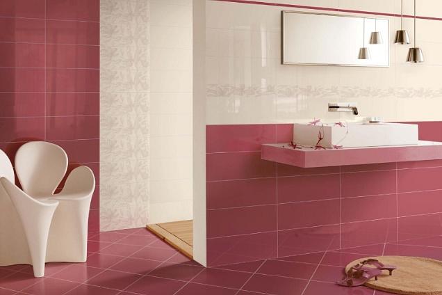 Mattonelle bagno rosa cipria la scelta giusta è variata sul