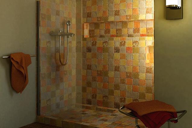 Finestra sopra il bagno in spagnolo con bagno tradizionale parete