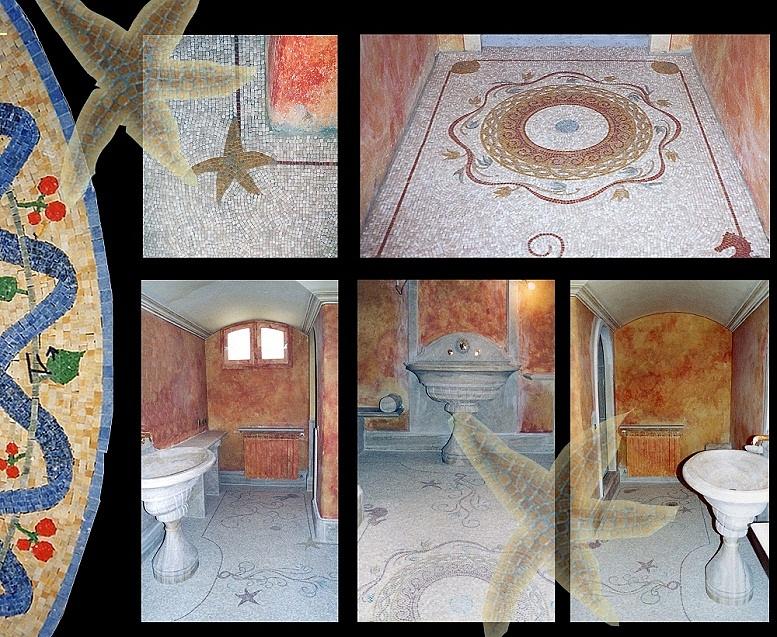 Sols interni di prestigio rivestimenti bagni - Mosaici da bagno ...