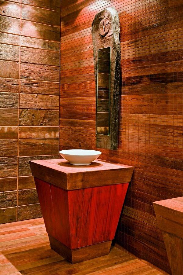 Antico cadore srl rivestimento parete in teak antico - Rivestimento bagno shabby ...