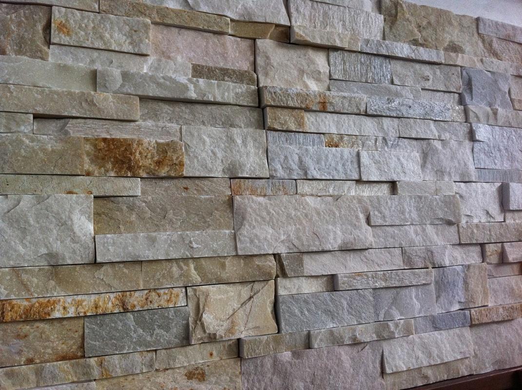 Ceramiche sassuolo sm di sacchi marco muretto in pietra vera modulo 18x35 45 00 mq - Piastrelle muro pietra ...